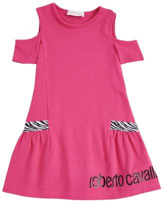 Roberto Cavalli Junior Zebra Off-The-Shoulder Dress