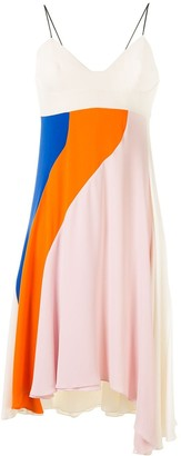 Christian Dior Pre-Owned Colour-Block Asymmetric Dress