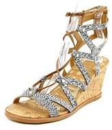 Dolce Vita Lynnie Women Open Toe Leather Wedge Sandal.