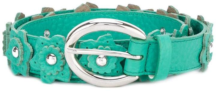 Orciani flower applique belt