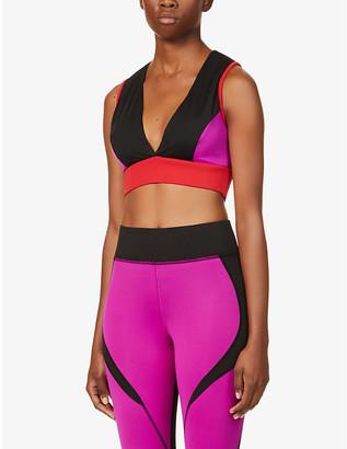 Michi Flare block-panel stretch-jersey sports bra
