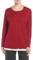 Eileen Fisher Women's Tencel & Organic Cotton Blend Sweater