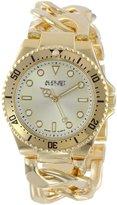 August Steiner Women's AS8079YG Swiss Diver Gold-Tone Twist Chain Bracelet Watch