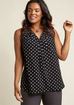 ModCloth Girl About Scranton Sleeveless Tunic in Polka Dots in XS