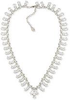 Carolee Silver-Tone Crystal Collar Necklace