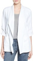 Chaus Women's Linen Roll Tab Jacket