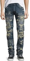 PRPS Super-Distressed Rip Repair Denim Jeans, Indigo
