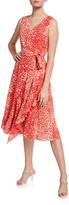 Lafayette 148 New York Telson Speckle Print Sleeveless Silk Dress