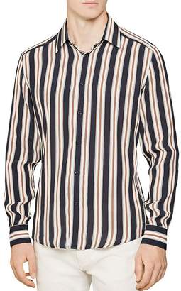 Reiss Keenum Bold Stripe Slim Fit Button-Down Shirt