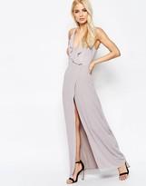 Jarlo Frill Wrap Front Maxi Dress