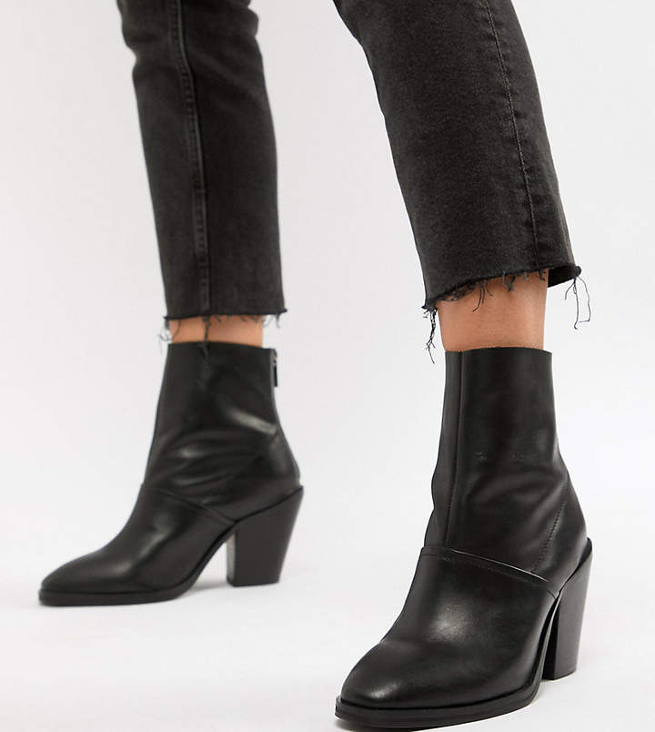 5c961c463a3 Design DESIGN Wide Fit Elexis leather ankle sock boots