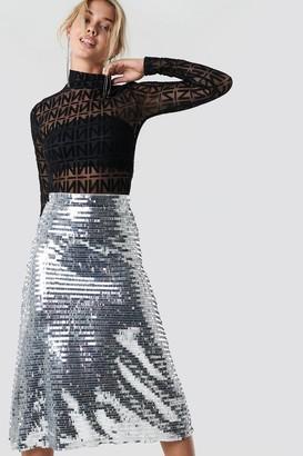 NA-KD Midi Sequins Skirt