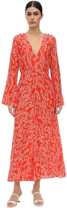 Rixo Sonja Printed Silk & Viscose Midi Dress