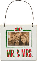 Primitives by Kathy 2017 Mr. & Mrs. Mini Hanging Frame Ornament