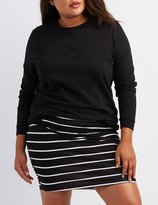 Charlotte Russe Plus Size Striped Bodycon Mini Skirt