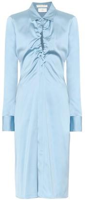 Bottega Veneta Silk-blend satin shirt dress