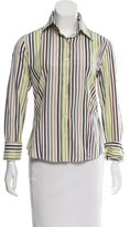 Burberry Striped Button-Up Top