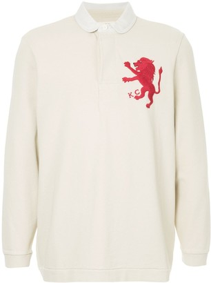 Kent & Curwen embroidered lion polo shirt