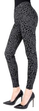 Me Moi Cheetah Flocked Shaping Women's Leggings
