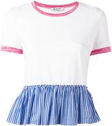 Dondup ruffle hem blouse - women - Cotton/Polyamide/Polyester/Viscose - M