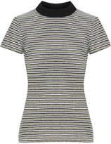 Proenza Schouler Ribbed Jersey-trimmed Striped Cotton-blend Bouclé Top