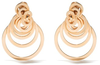 de Grisogono 18kt Rose Gold Circular Layered Earrings