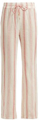 Melissa Odabash Krissy Striped Cotton Trousers - Womens - Red Stripe