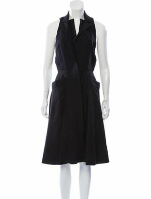 Alexander McQueen Sleeveless Midi Dress Black