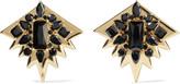 Noir Gold-tone cubic zirconia earrings