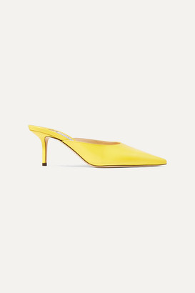 Jimmy Choo Rav 65 Leather Mules - Yellow