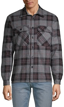 Vstr Premium Plaid Faux Shearling-Lined Shirt