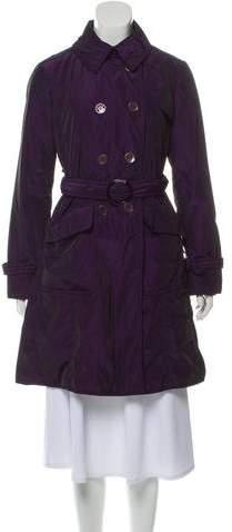 Armani Collezioni Double-Breasted Trench Coat