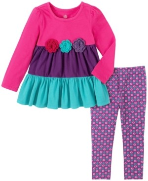 Kids Headquarters Toddler and Little Girls Two Piece Knit Tunic with Legging Set