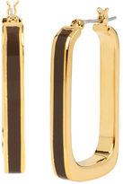 Diane von Furstenberg Twigs and Links Wood Rectangle Hoop Earring