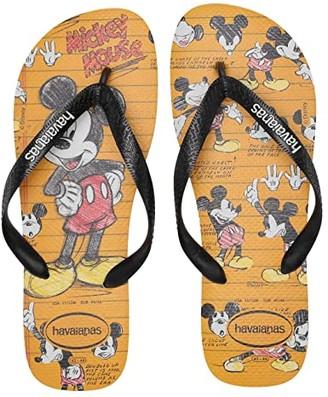 Havaianas Disney Stylish Flip Flops (White/Black/White) Women's Sandals