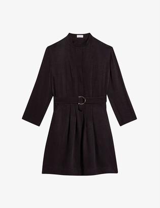 Claudie Pierlot Romiloa belted woven mini dress