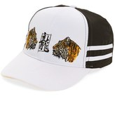 Topman Men's Embroidered Tigers Baseball Cap - White