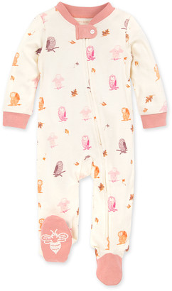 Burt's Bees Owls & Leaves Organic Baby Zip Front Loose Fit Pajamas