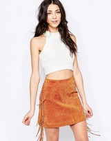 Glamorous High Neck Cropped Top