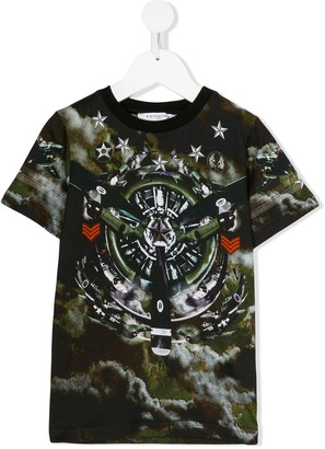 Givenchy Kids camouflage print T-shirt