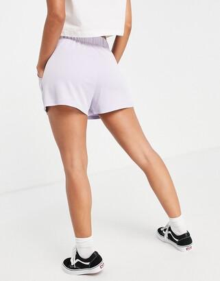 Monki Alma super soft pull on shorts in purple