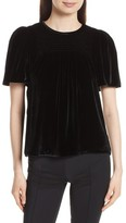 Rebecca Taylor Women's Short Sleeve Velvet Top