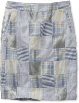 L.L. Bean Washed Chino Skirt, Patchwork