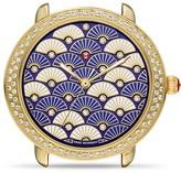 Michele Serein 16 Blue Fan Diamond Dial Watch Head, 34mm