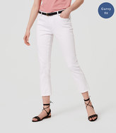 LOFT Curvy Kick Crop Jeans in White