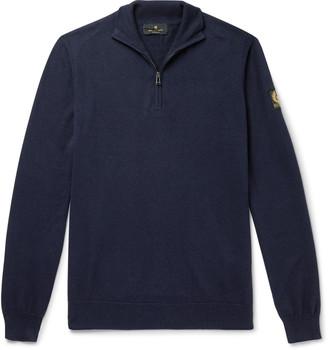Belstaff Bay Cotton And Silk-Blend Half-Zip Sweater
