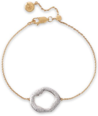 Monica Vinader Riva 18-karat Gold-plated Sterling Silver Diamond Bracelet