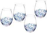 Spode Blue Italian Stemless Wine Glasses (Set of 4)