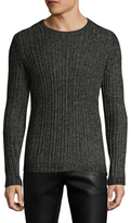 John Varvatos Mix Stitch Crewneck Sweater