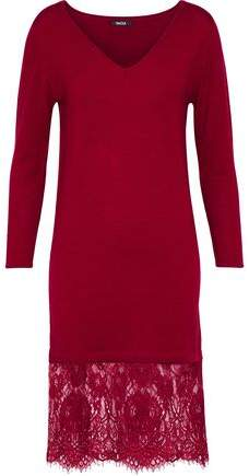 Raoul Lace-Paneled Merino Wool Dress
